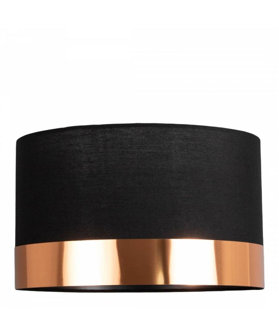 Image for Nela Black and Copper 30cm Pendant Ceiling Light Shade
