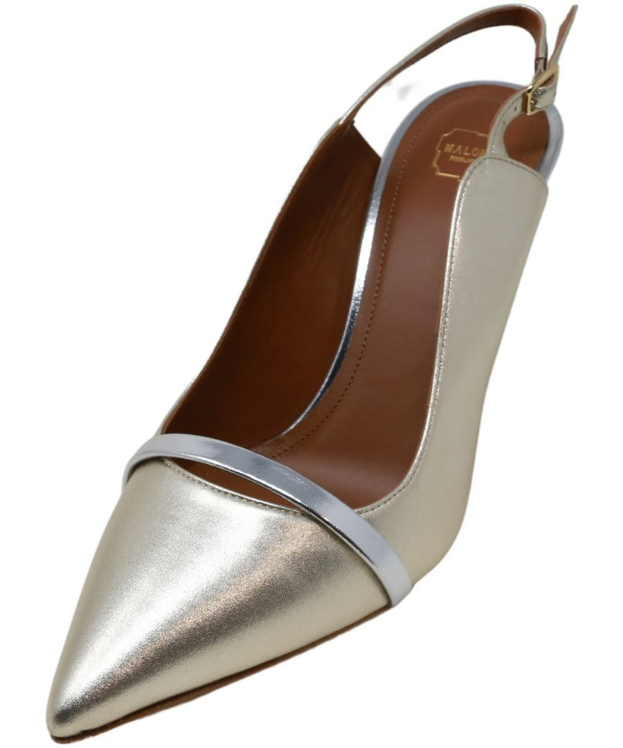 Image for Malone Souliers Women's Marion Metallic Suede Heel
