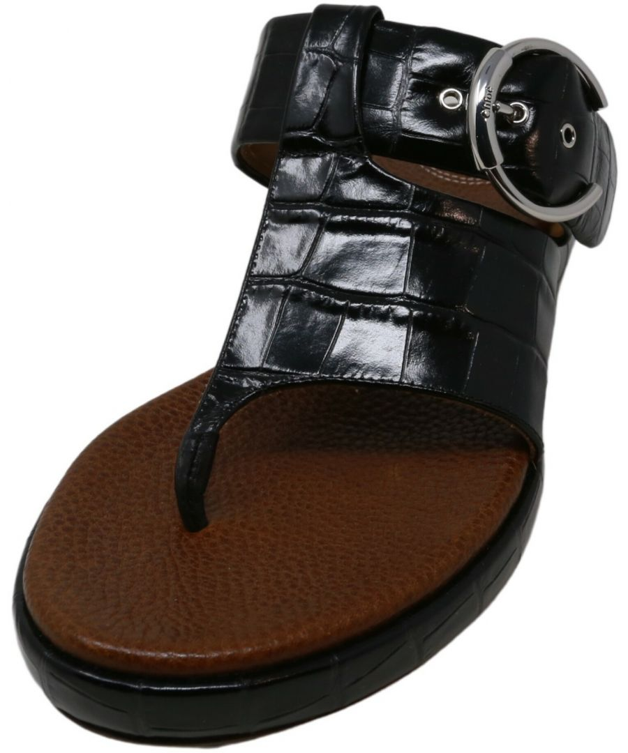 Image for Chloe Women's St. Cocco Sharp Flat Sandal Leather