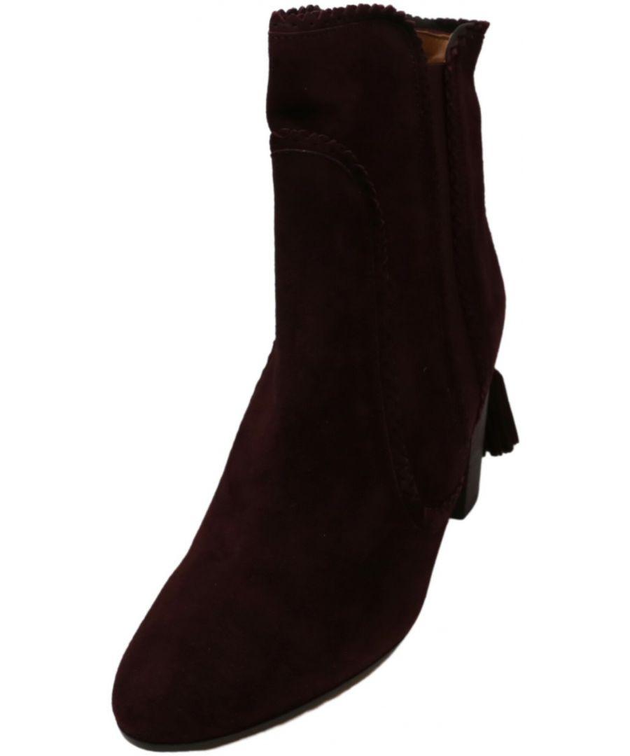 Image for Aquazzura Firenze Women's Boho Beatle 85 Ankle-High Suede Boot