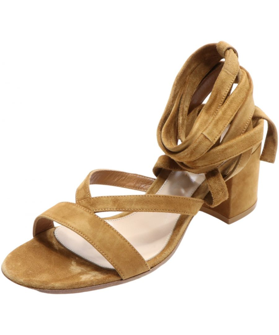 Image for Gianvito Rossi Women's Janis Low Ankle-High Leather Sandal