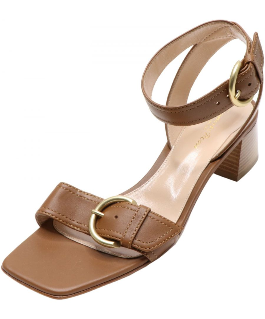Image for Gianvito Rossi Women's Harper Sandal High-Top Leather Heel