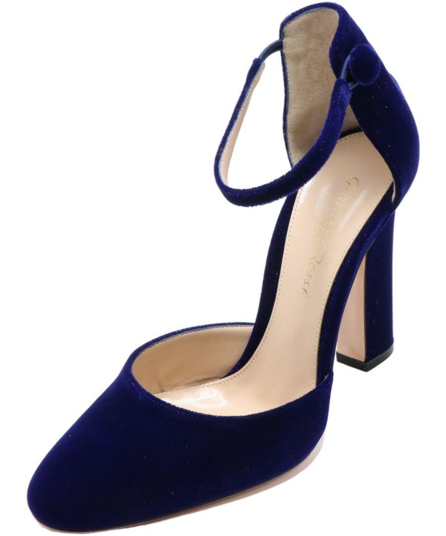 Image for Gianvito Rossi Women's Velluto Sandal Ankle-High Velvet Pump