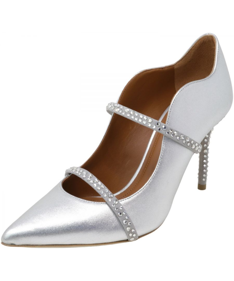 Image for Malone Souliers Women's Maureen Metallic Crystal Pump Ankle-High Leather