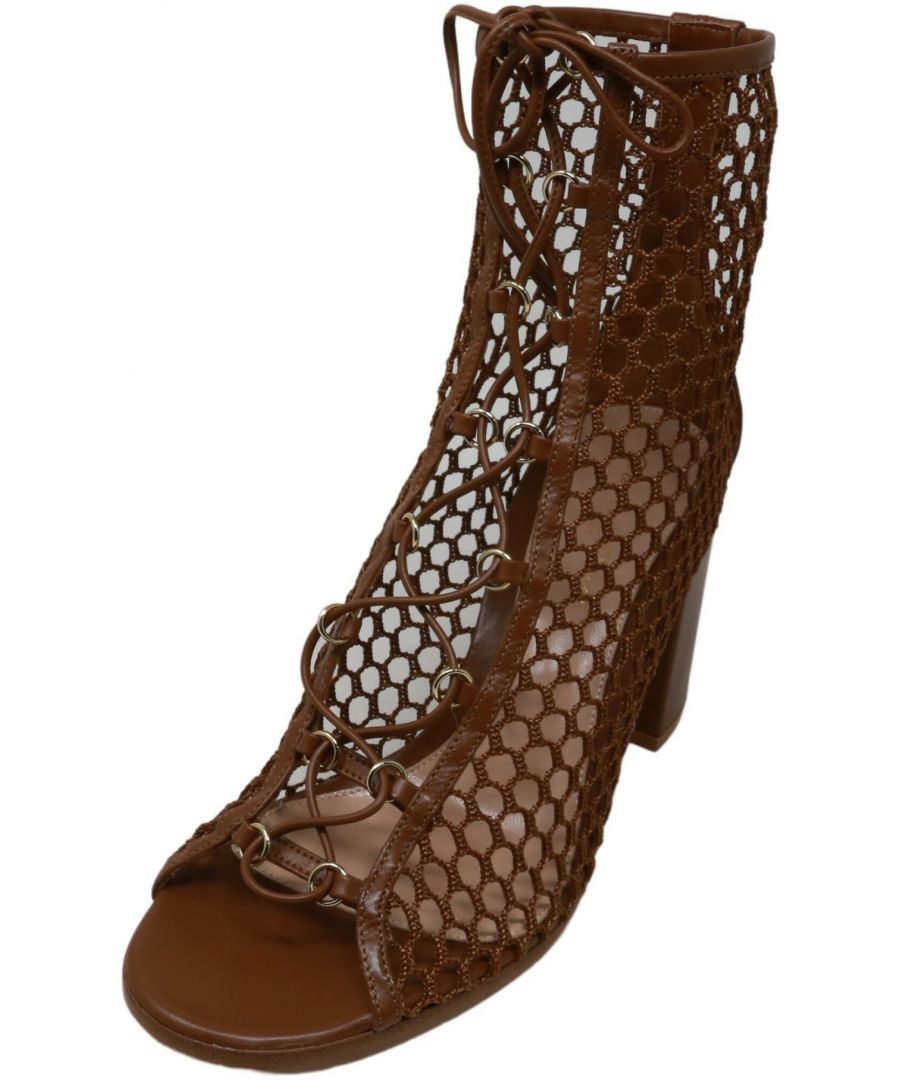 Image for Gianvito Rossi Women's Santana Ankle-High Mesh Heel