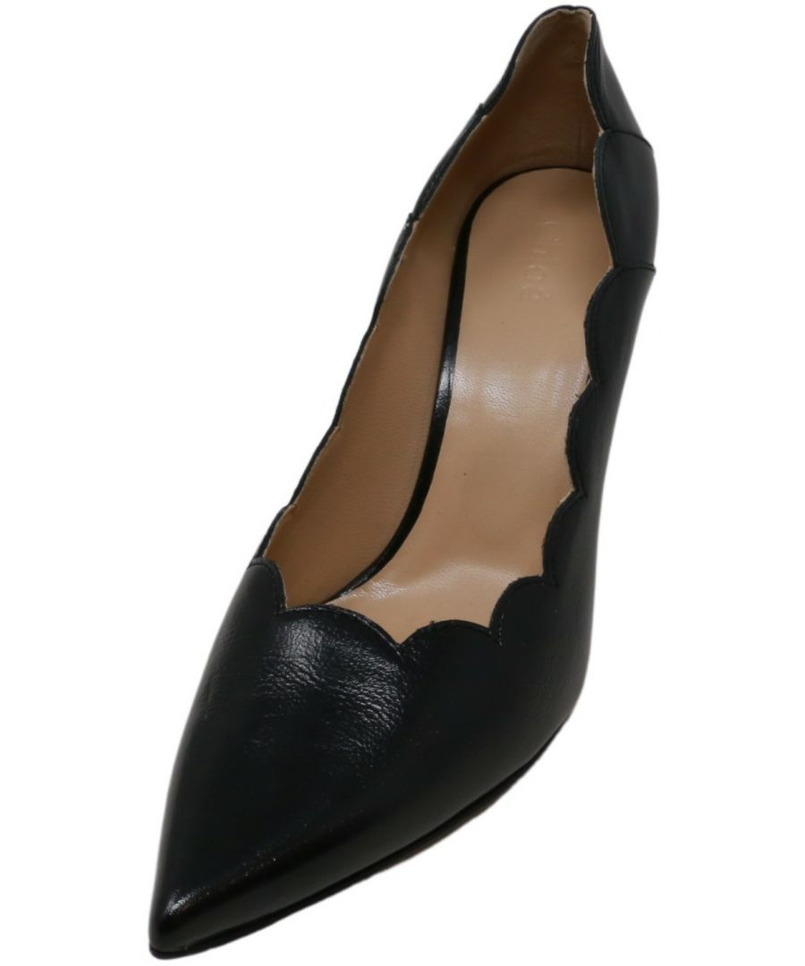 Image for Chloe Women's Vitello Giotto Pump Ankle-High Leather