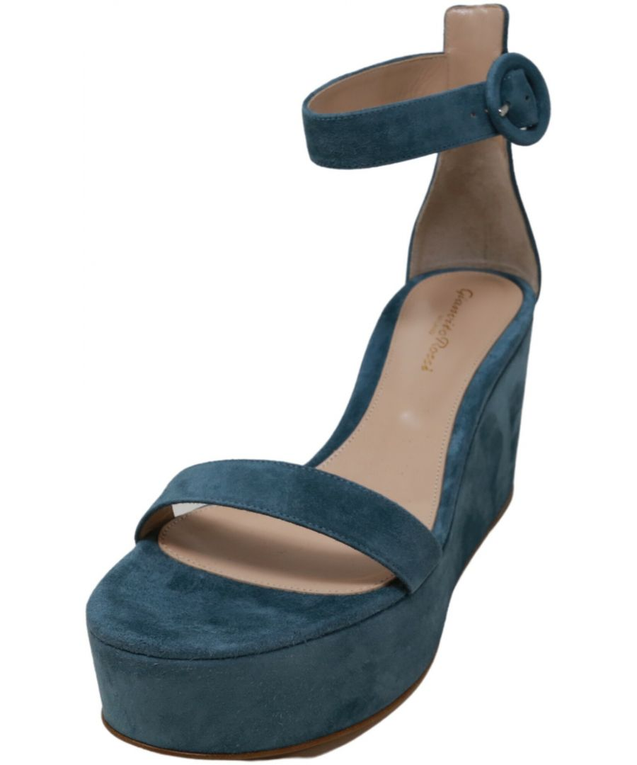 Image for Gianvito Rossi Women's Amelia Ankle-High Leather Wedged Sandal
