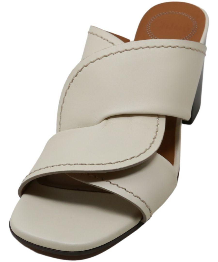 Image for Chloe Women's Corvette Sandals Leather Heel