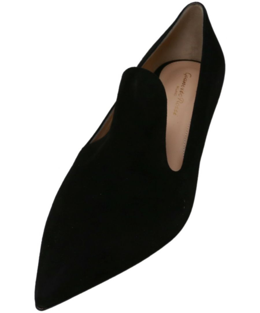 Image for Gianvito Rossi Women's Aramis Pump 55 Ankle-High Suede