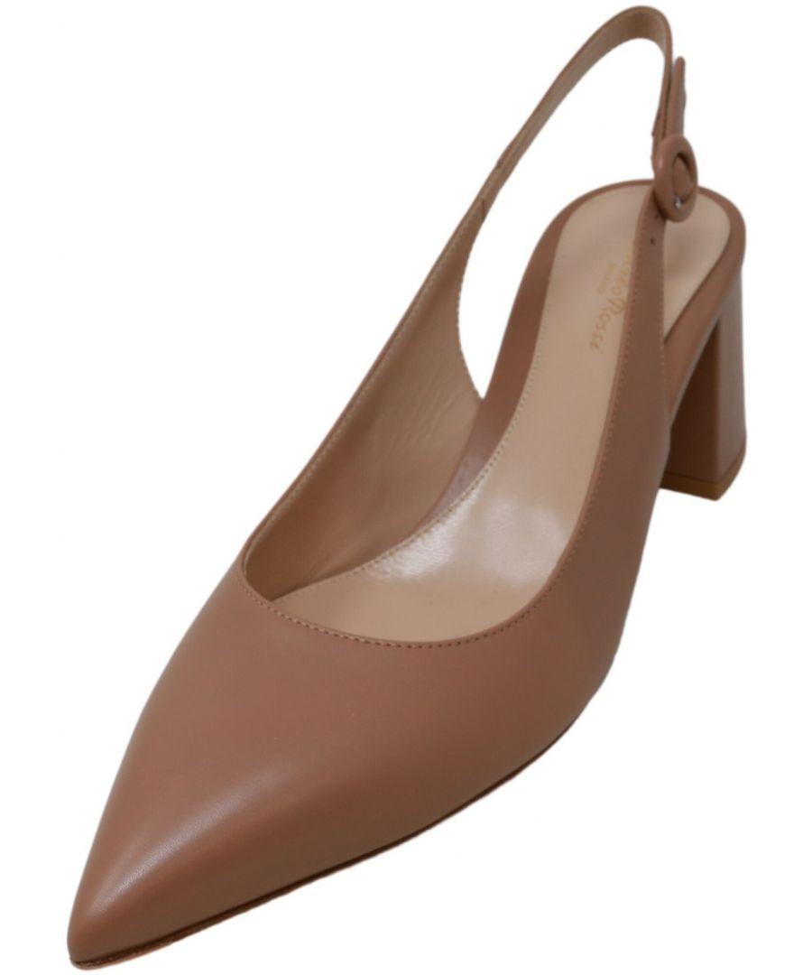 Image for Gianvito Rossi Women's Agata Vitello Ankle-High Leather Slingback