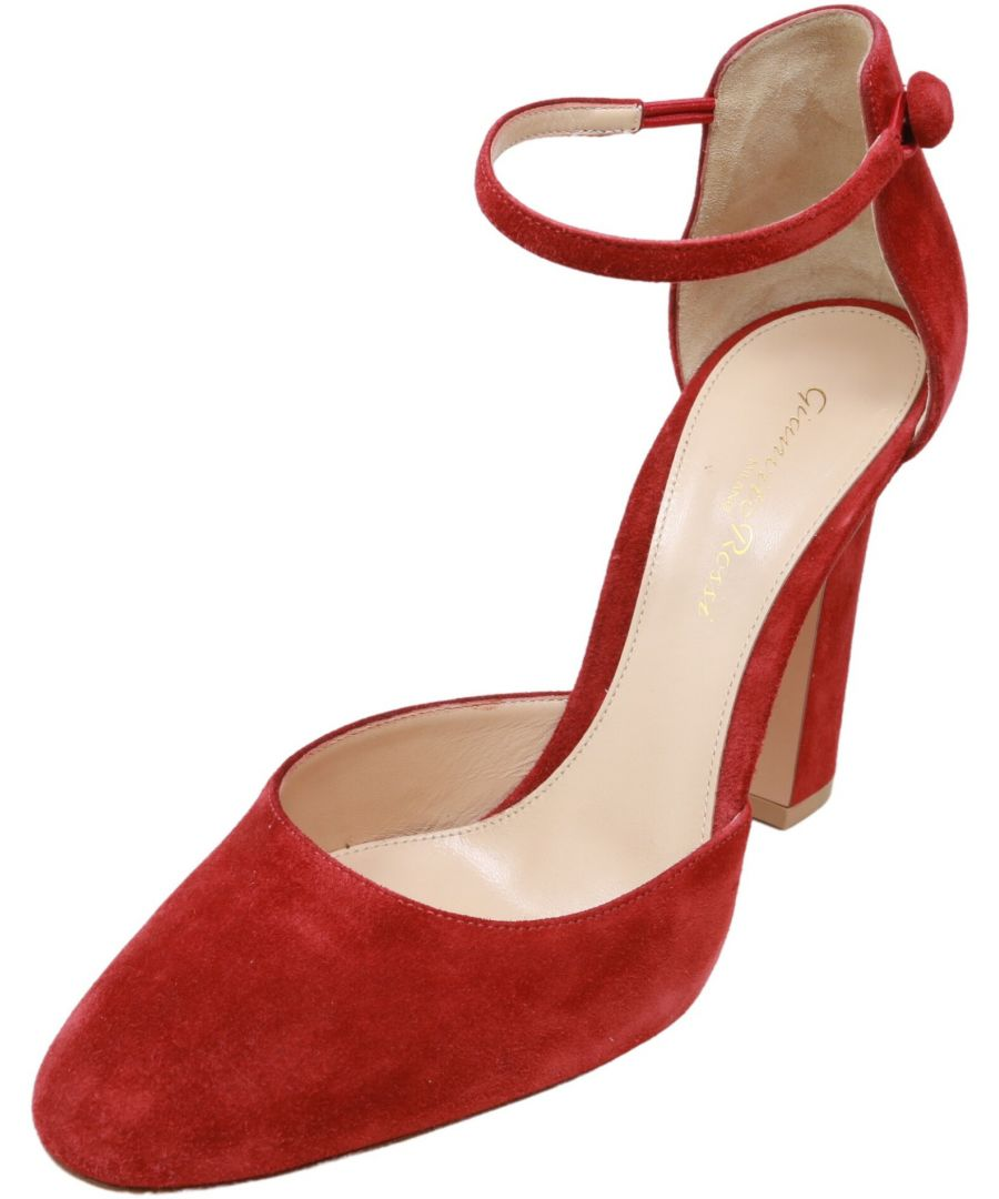 Image for Gianvito Rossi Women's G40675 Pumps Ankle-High Leather Pump