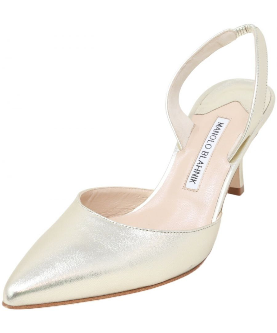 Image for Manolo Blahnik Women's Carolyne Napa Ankle-High Leather Pump