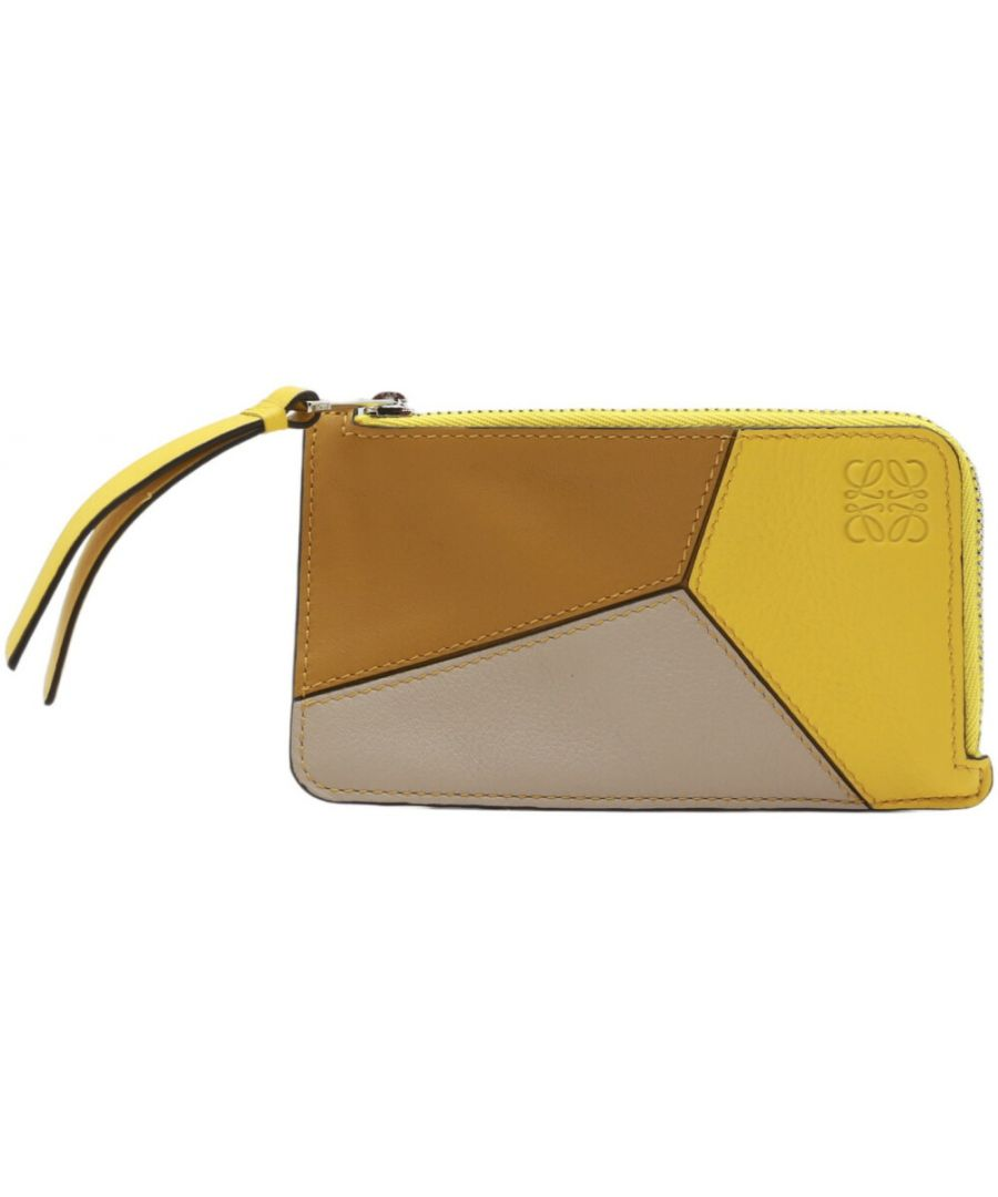 Image for Loewe Women's Puzzle Coin and Card Holder Leather Wallet