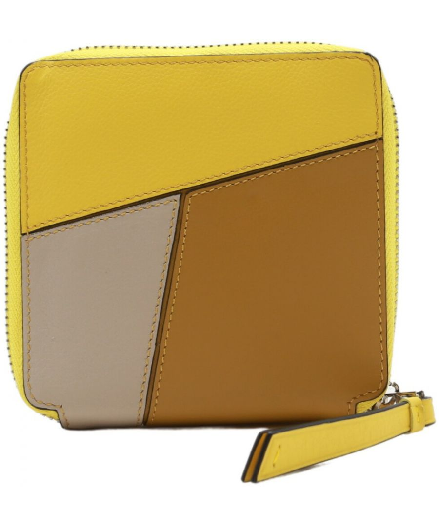 Image for Loewe Women's Puzzle Square Zip Leather Wallet