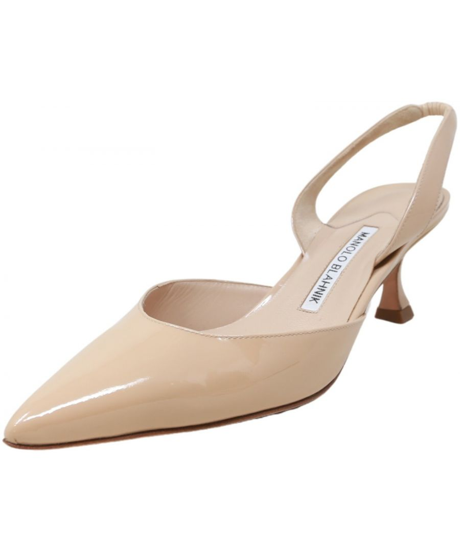 Image for Manolo Blahnik Women's Carolyn Patent Pump Ankle-High Leather