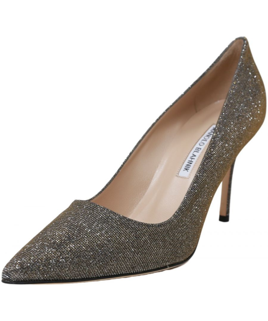 Image for Manolo Blahnik Women's BB 90 639 Ankle-High Fabric Pump