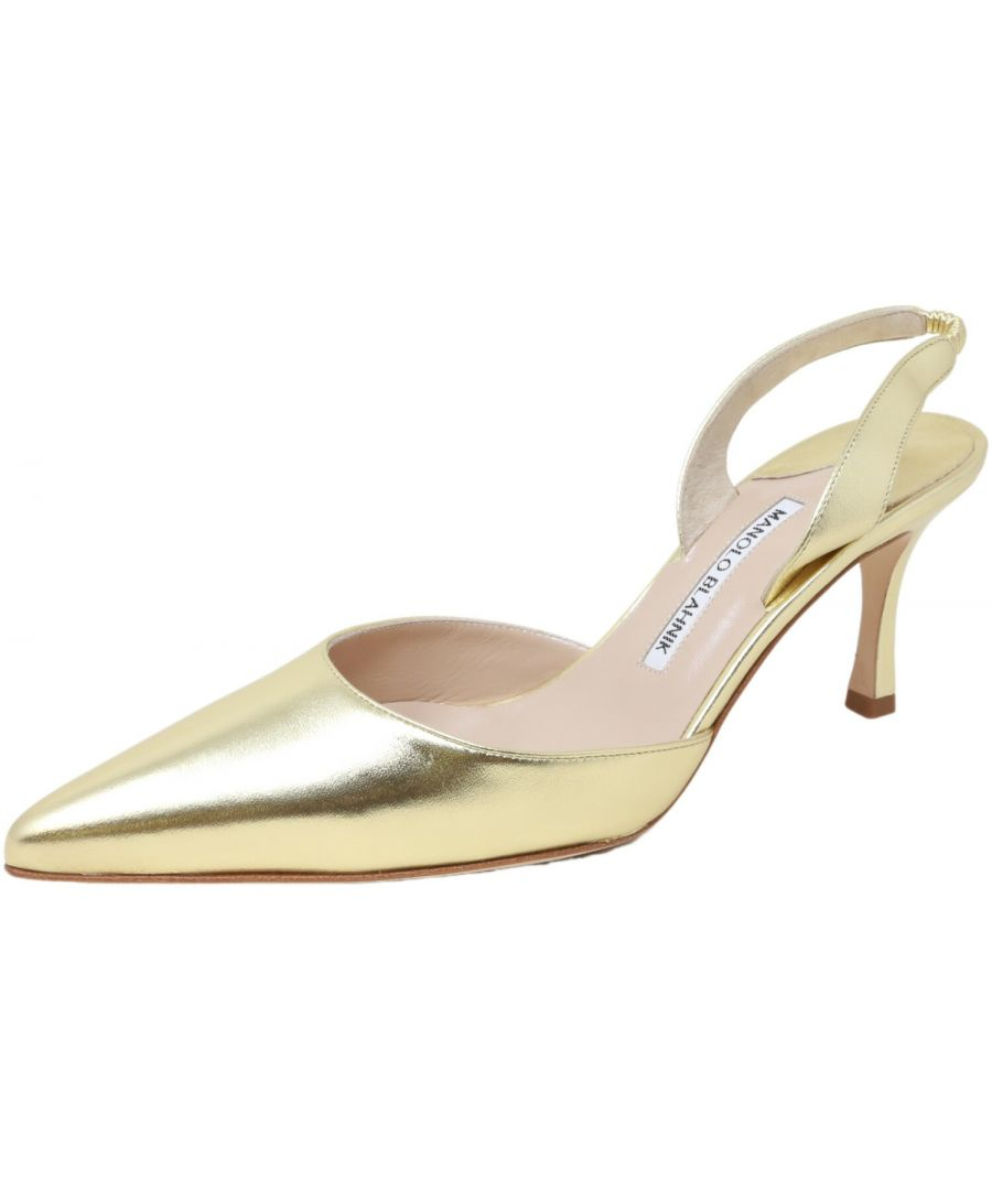 Image for Manolo Blahnik Women's Carolyneric 70 Pump Ankle-High Leather