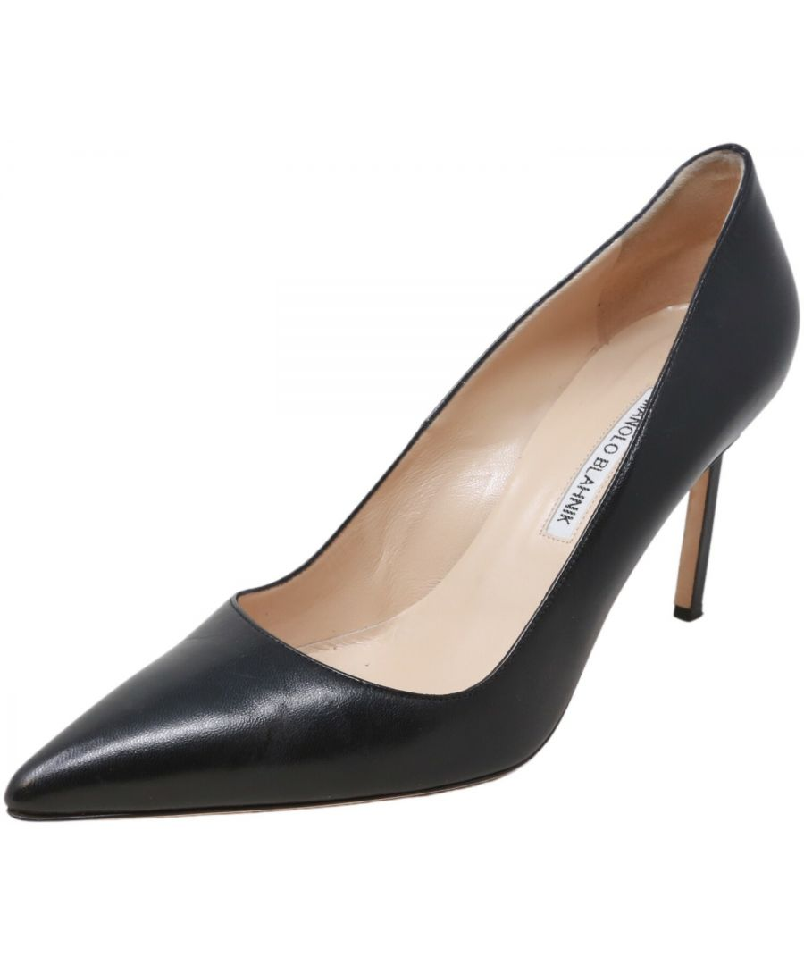 Image for Manolo Blahnik Women's BB 90 Kid Ankle-High Leather Pump