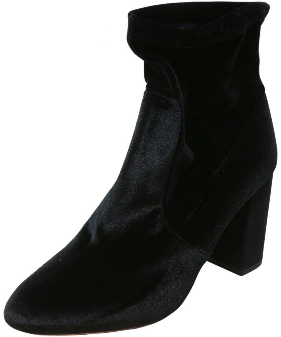 Image for Aquazzura Firenze Women's So Me Velvet 85 Bootie High-Top Boot