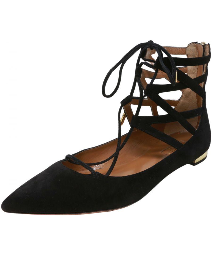 Image for Aquazzura Firenze Women's Belgravia Flat Ankle-High Leather Sandal