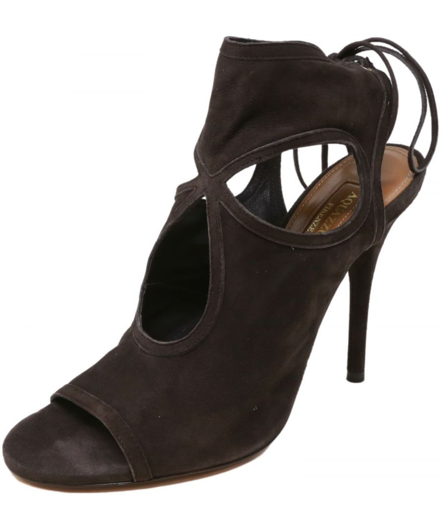 Image for Aquazzura Firenze Women's Sexy Thing 105 High-Top Leather Heel