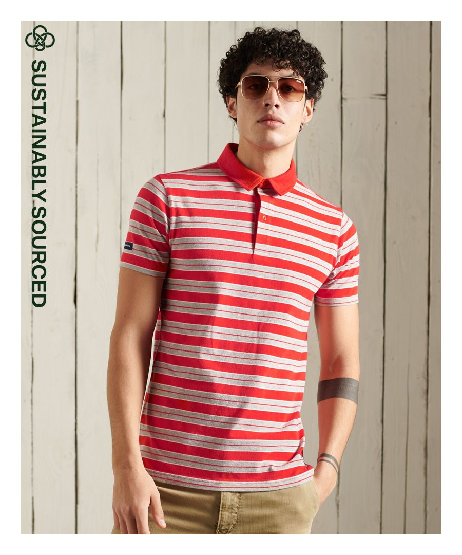 Image for Superdry Organic Cotton Cali Stripe Polo Shirt