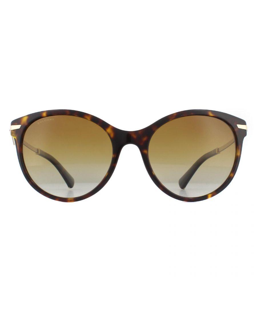 Image for Bvlgari Sunglasses 8210B 504/T5 Dark Havana Brown Gradient Polarized