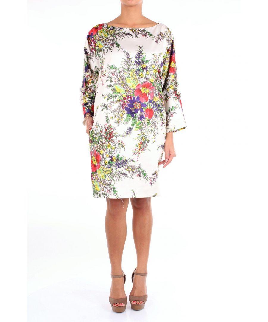 Image for BLUMARINE WOMEN'S 15330FANTASIA PINK POLYESTER DRESS