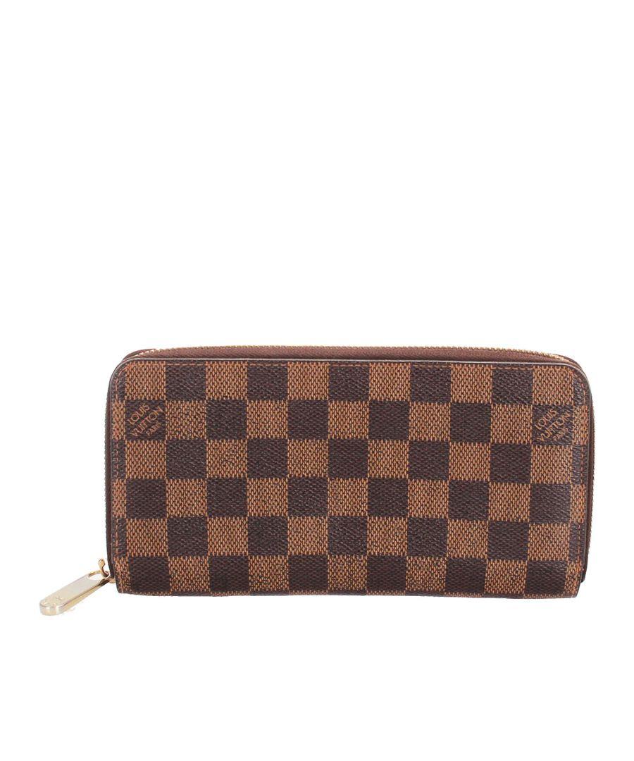 Image for Vintage Louis Vuitton Damier Ebene Zippy Long Wallet Brown