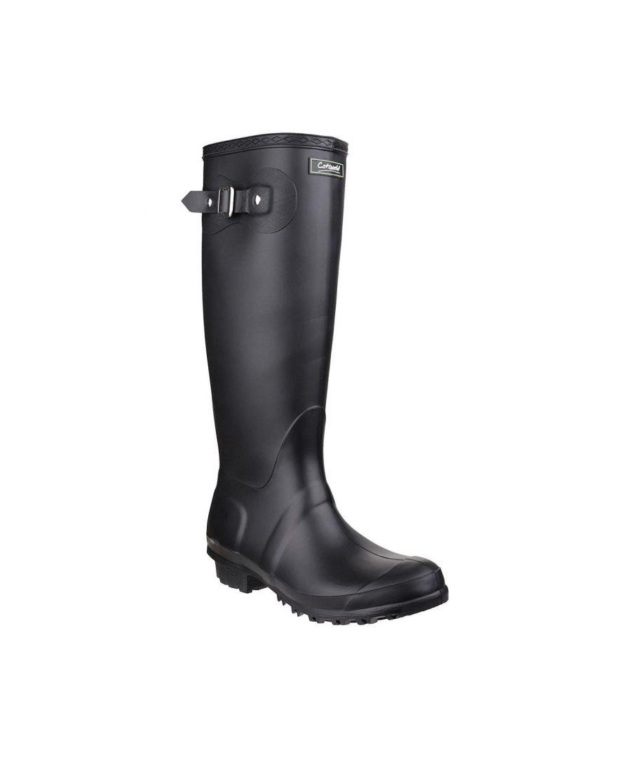 Image for Cotswold Sandringham Buckle-Up Womens Wellington Boots (Black)