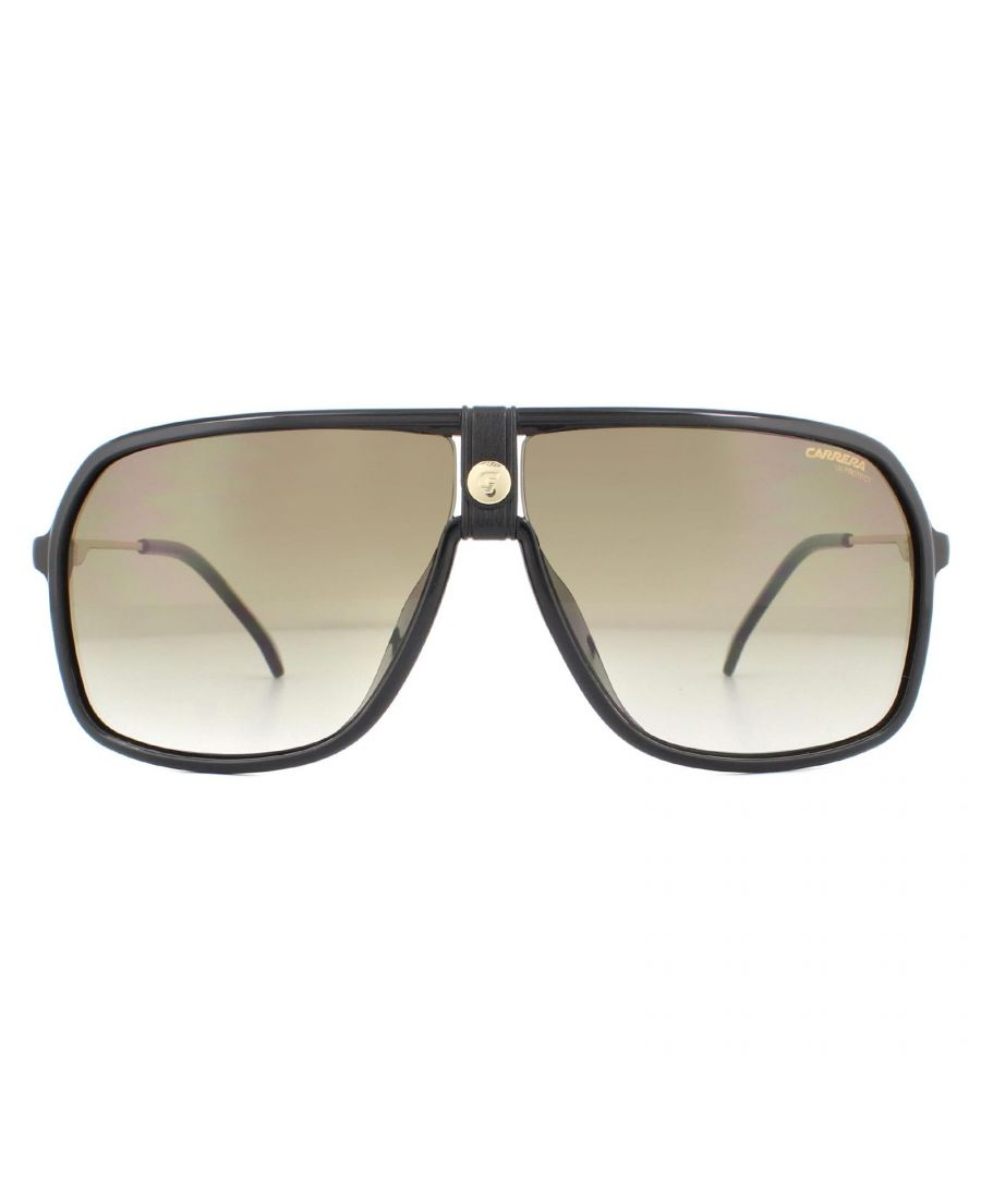 Image for Carrera Sunglasses 1019/S 807 HA Black Gold Brown Gradient