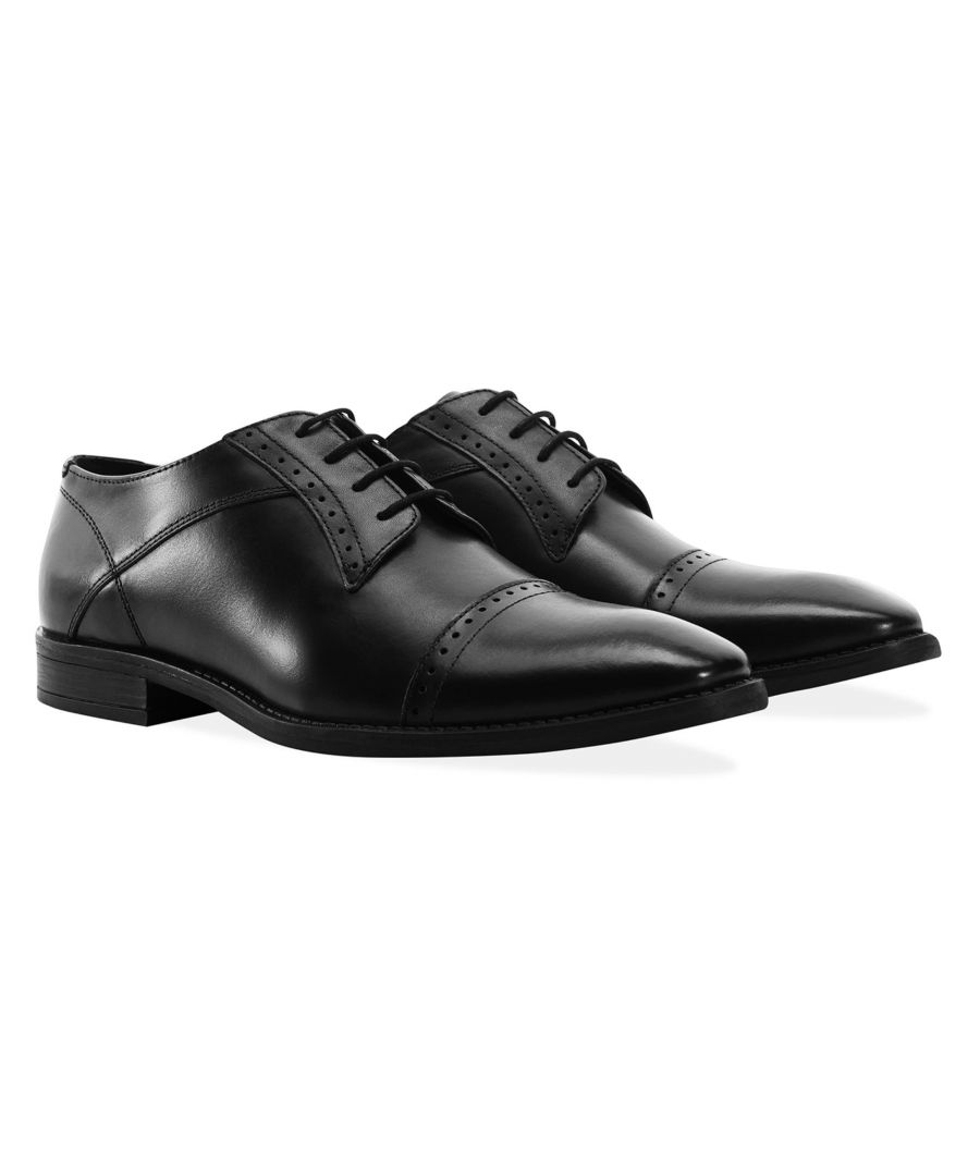 Image for Redfoot Raymond Black Leather Derby Brogue