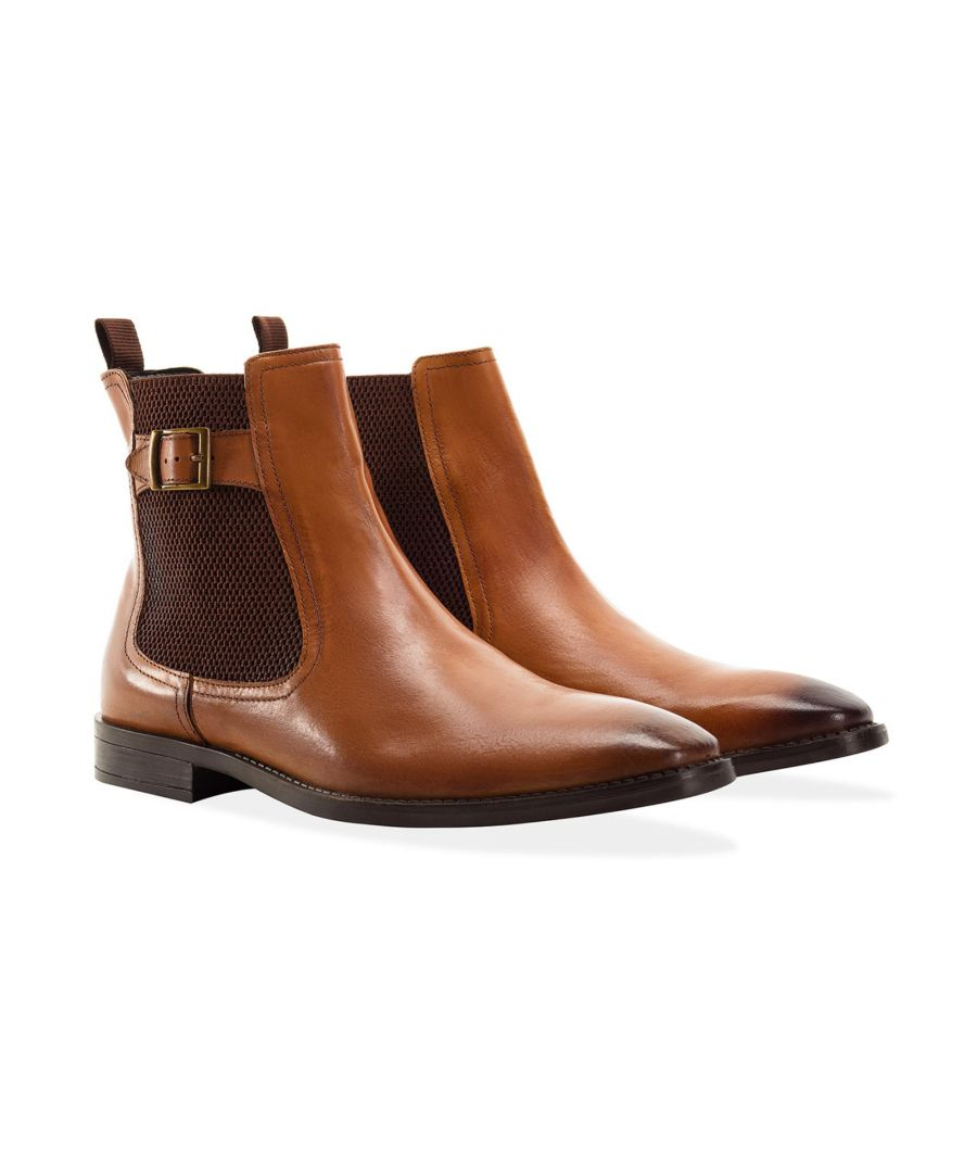 Image for Redfoot Harold Tan Leather Chelsea Boot