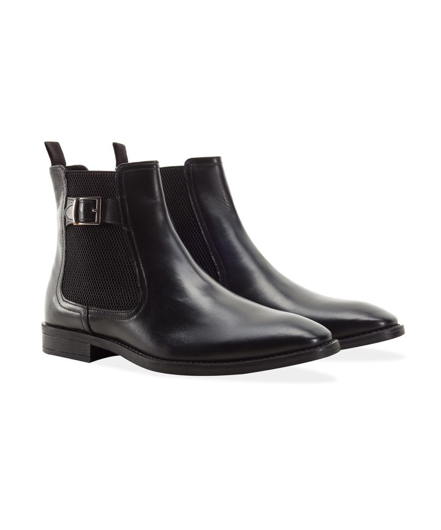 Image for Redfoot Harold Black Leather Chelsea Boot