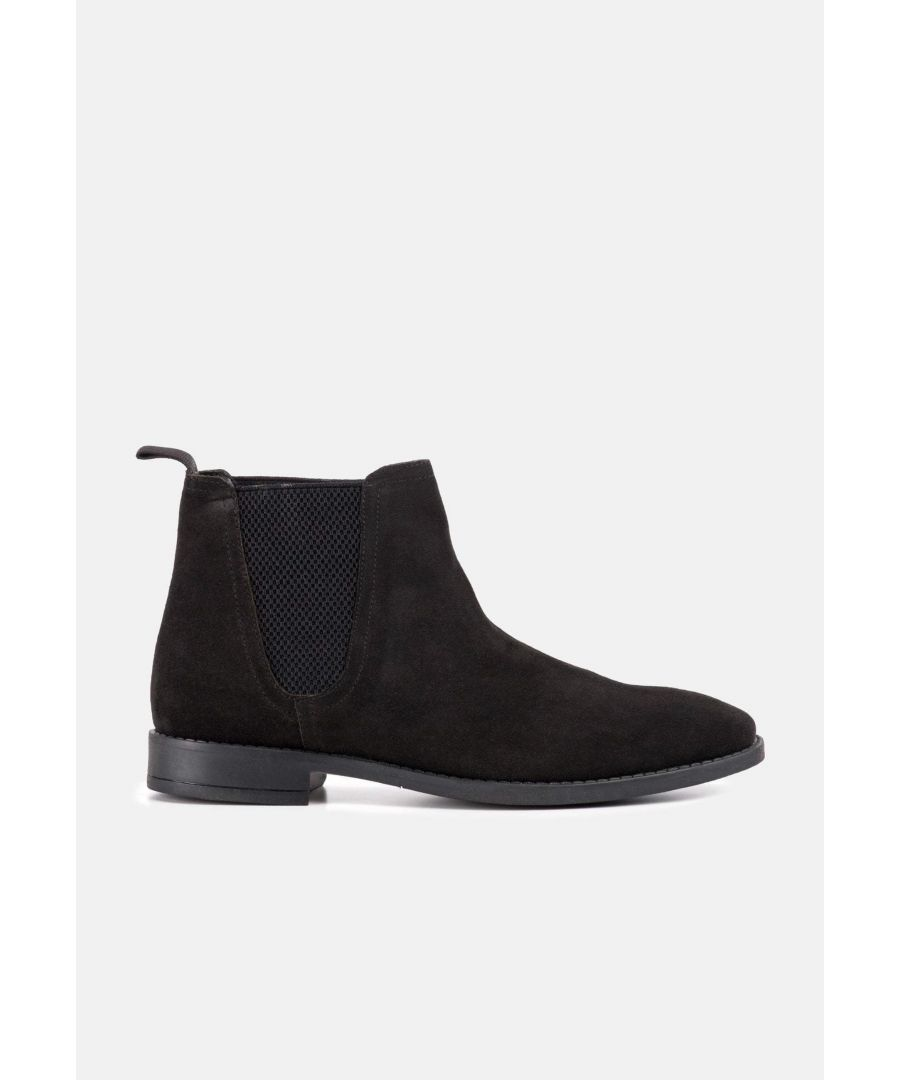 Image for Redfoot Jack Black Suede Classic Chelsea Boot
