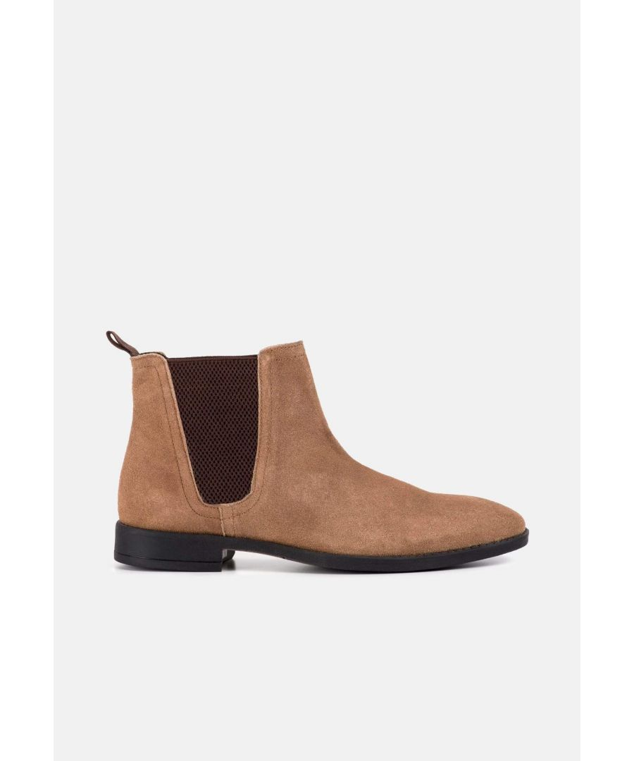 Image for Redfoot Jack Tan Suede Classic Chelsea Boot