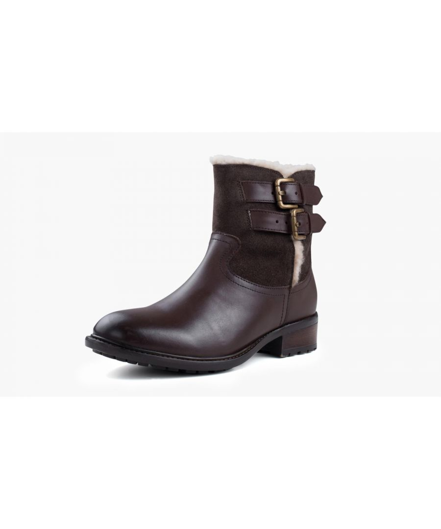 Image for Redfoot Grace Brown Leather Suede Ankle Boot