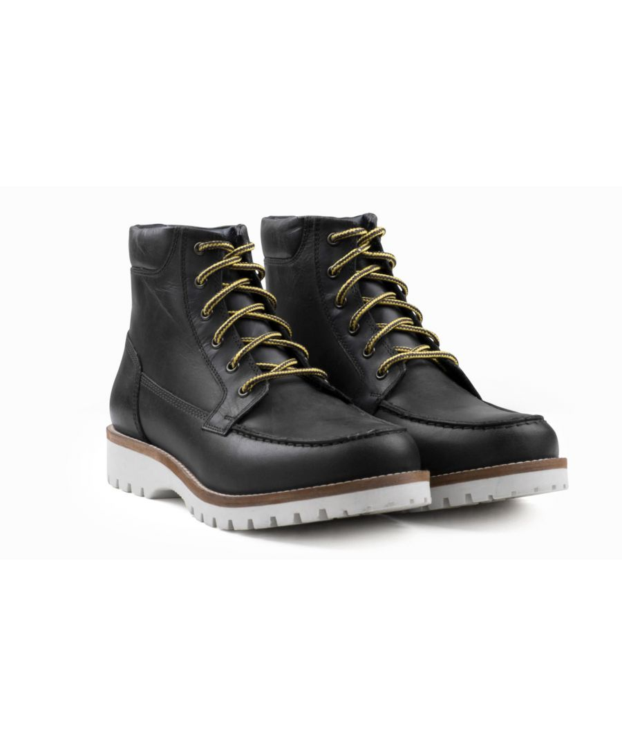 Image for Redfoot Chipp Black Leather Moc Toe Boot