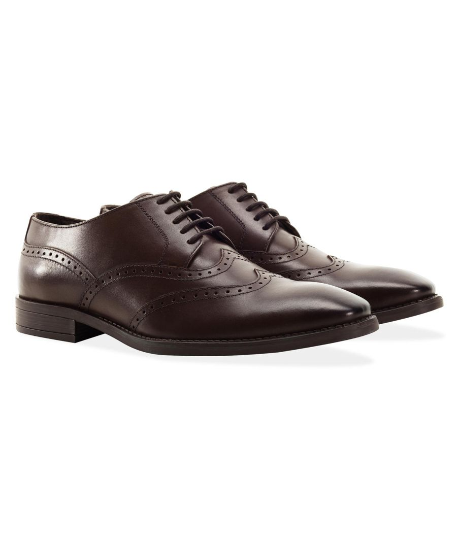 Image for Redfoot Arthur Brown Leather Derby Shoe