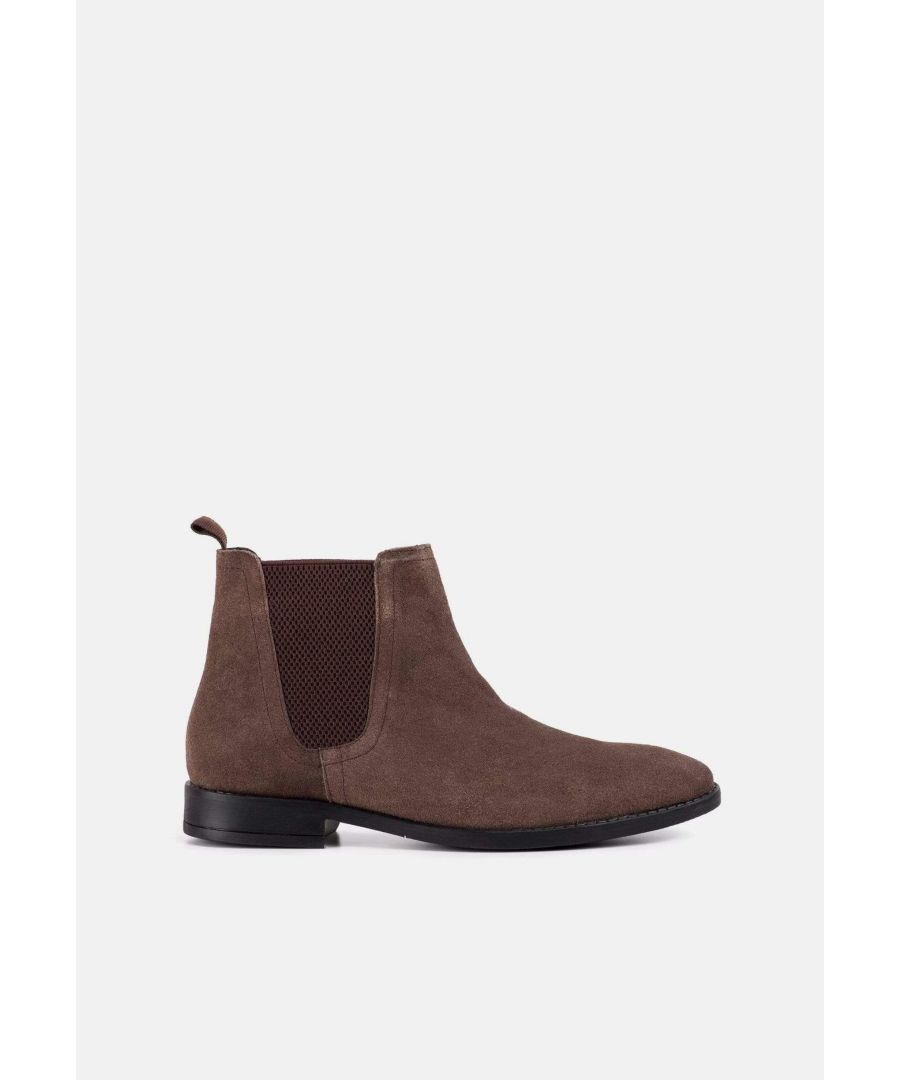 Image for Redfoot Jack Brown Suede Classic Chelsea Boot