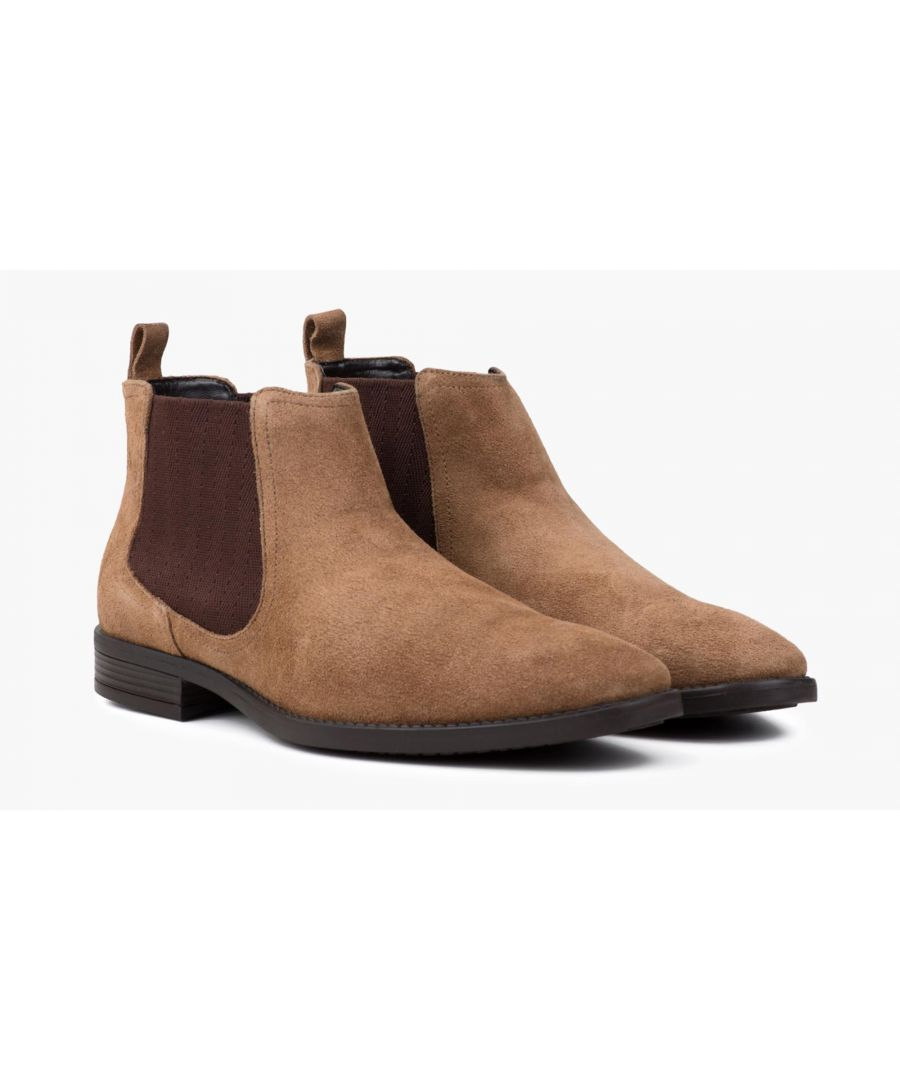 Image for Redfoot Doyle Tan Suede Chelsea Boot