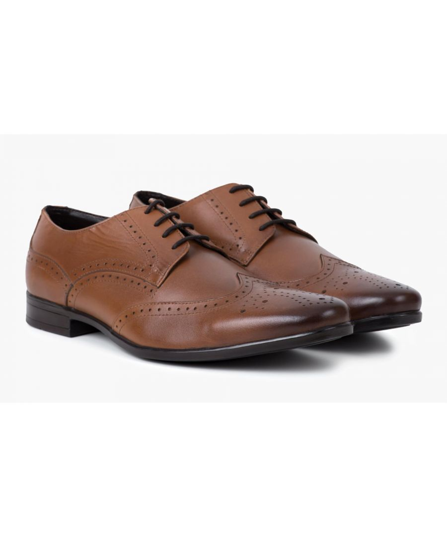 Image for Redfoot Jenson Tan Leather Brogue Shoe