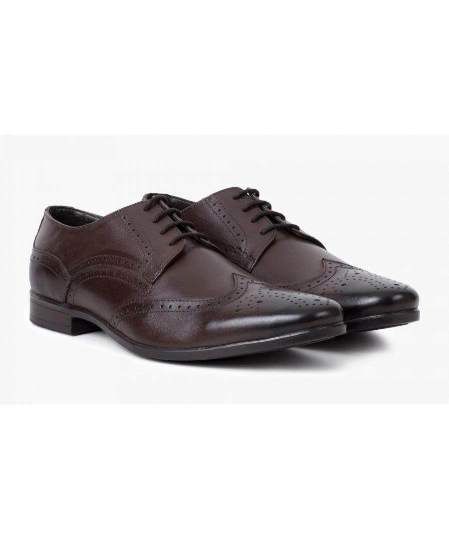 Image for Redfoot Jenson Brown Leather Brogue Shoe