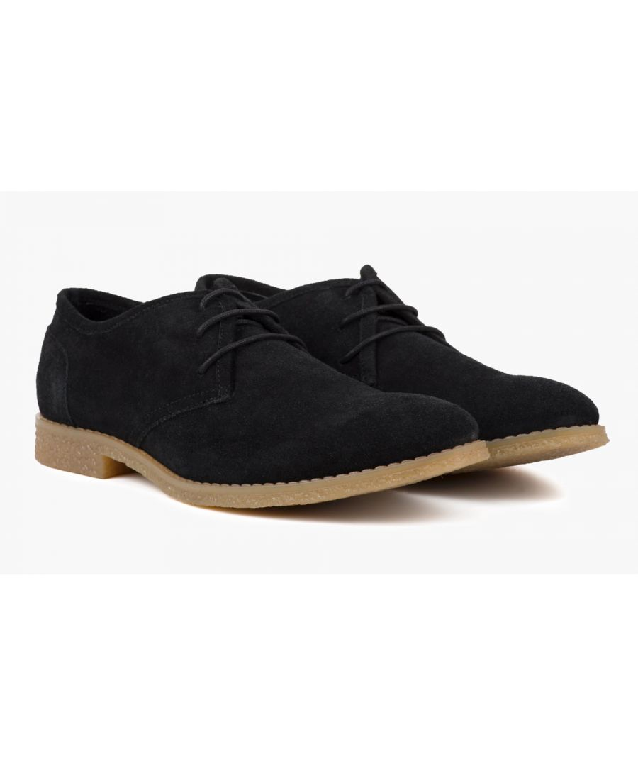 Image for Redfoot Dan Black Suede Desert Shoe
