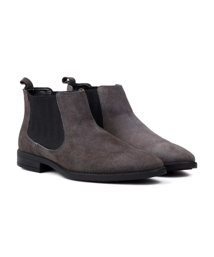 Image for Redfoot Doyle Grey Suede Chelsea Boot