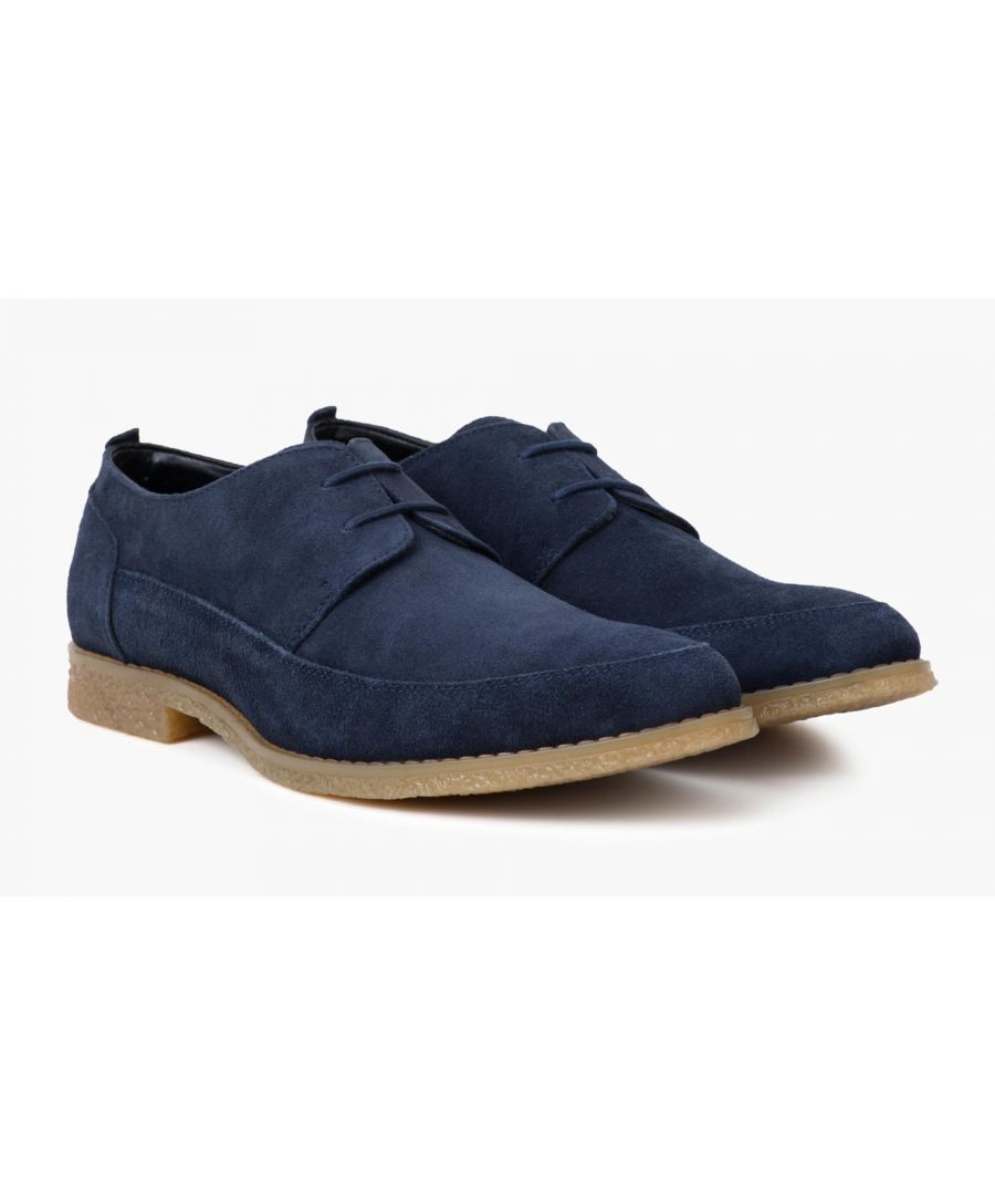 Image for Redfoot Gobi Navy Suede Derby Shoe