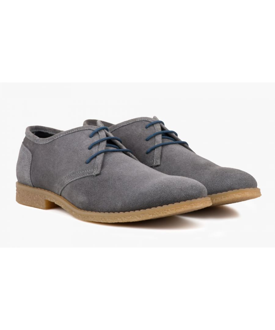 Image for Redfoot Dan Grey Suede Desert Shoe