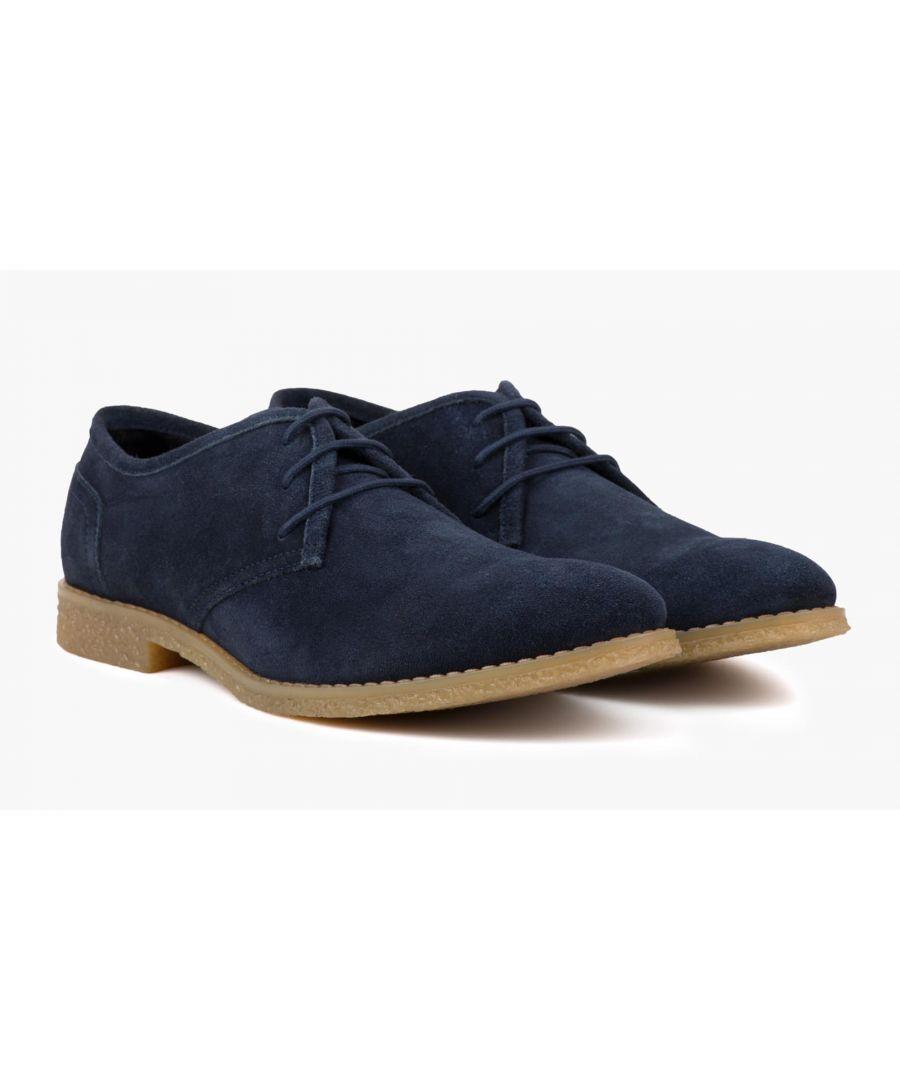 Image for Redfoot Dan Navy Suede Desert Shoe