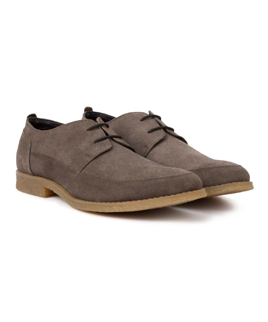 Image for Redfoot Gobi Grey Suede Derby Shoe
