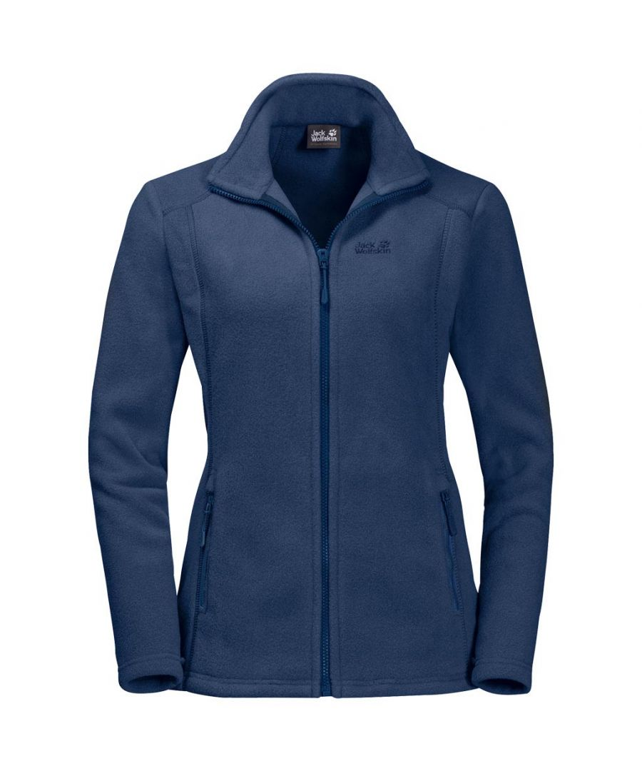 Image for Jack Wolfskin Midnight Moon Womens Fleece Jacket Red